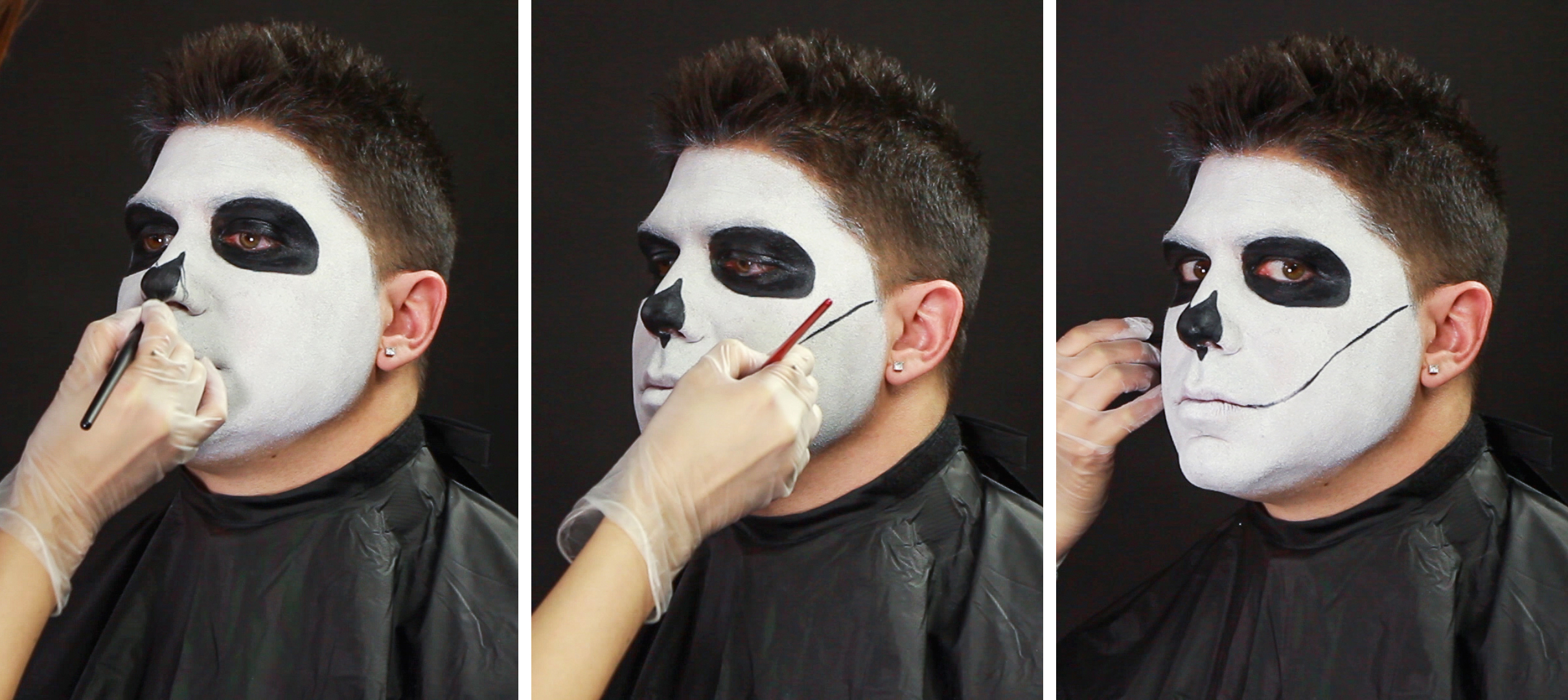 male sugar skull makeup tutorial wholesale halloween costumes blog. Black Bedroom Furniture Sets. Home Design Ideas