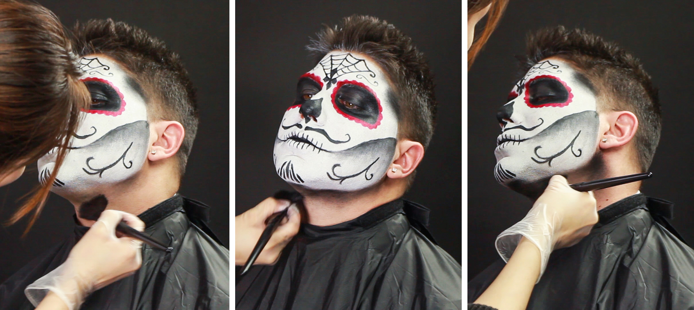 male sugar skull makeup tutorial wholesale halloween. Black Bedroom Furniture Sets. Home Design Ideas