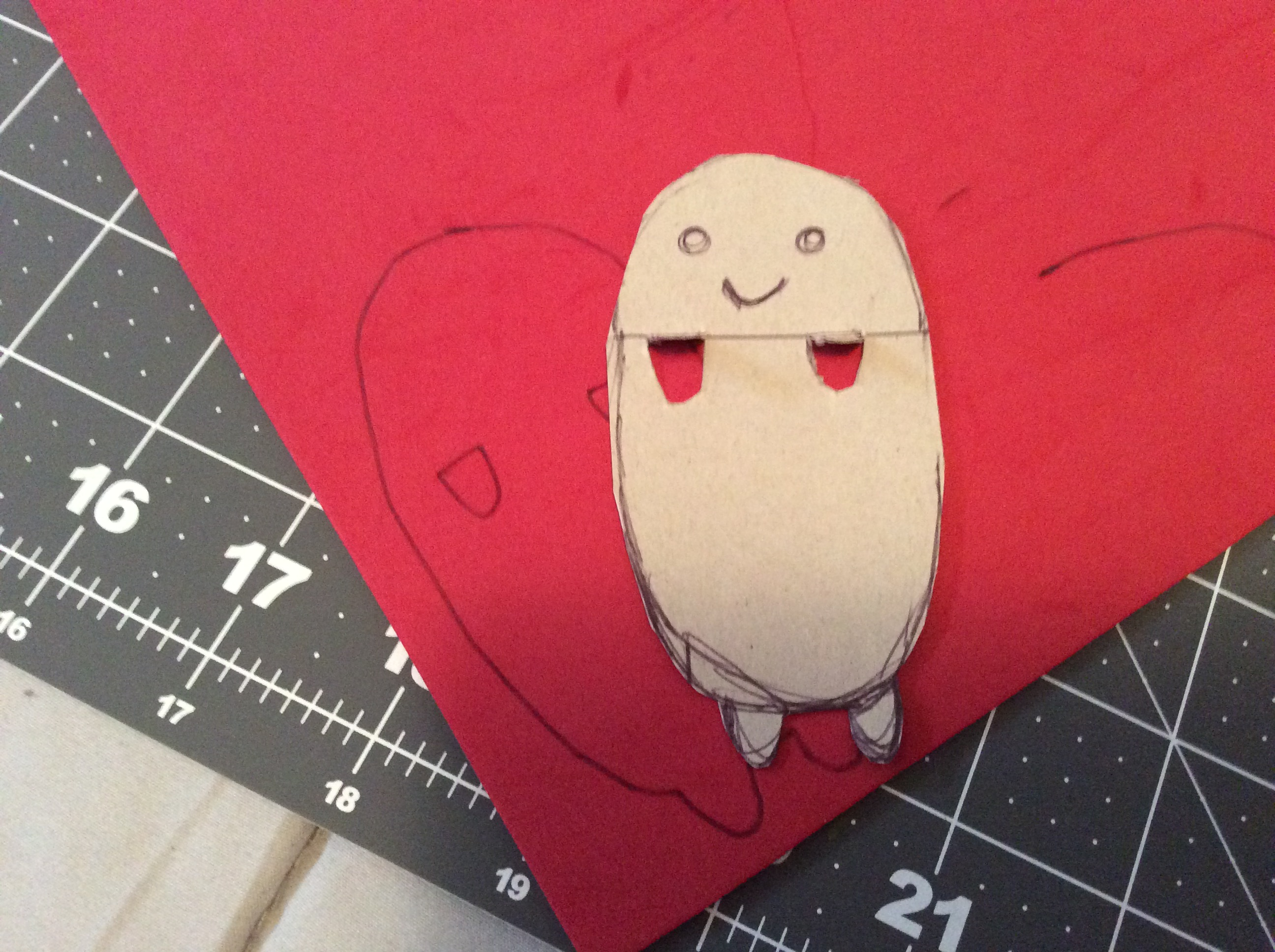 Take Your Extra Craft From And Cut Out A Little Friend To Hang In The Pocket With Pens Pencils Use Sharpie Or Paint Him Face