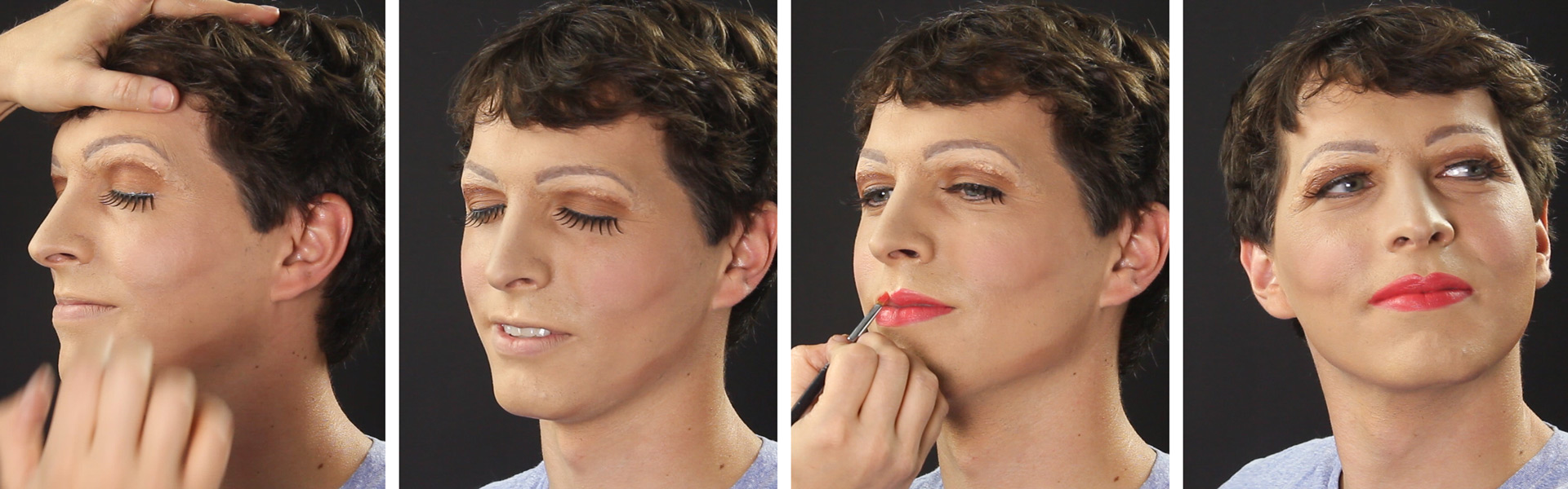 Male to female makeup tutorial wholesale halloween costumes blog finish with regular beauty makeup false lashes will make the look more authentic baditri Choice Image