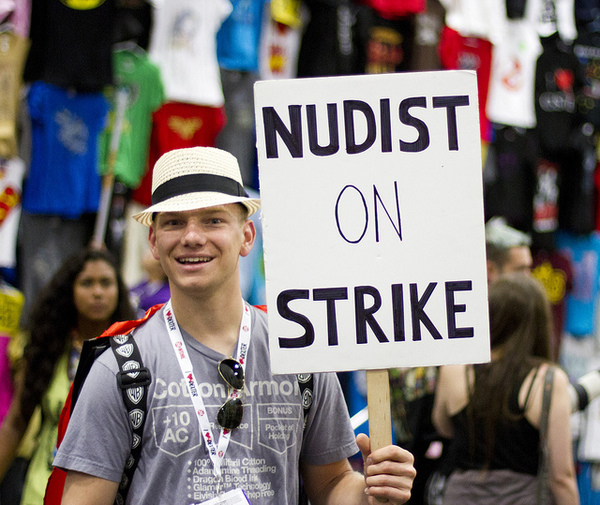 Nudist on Strike