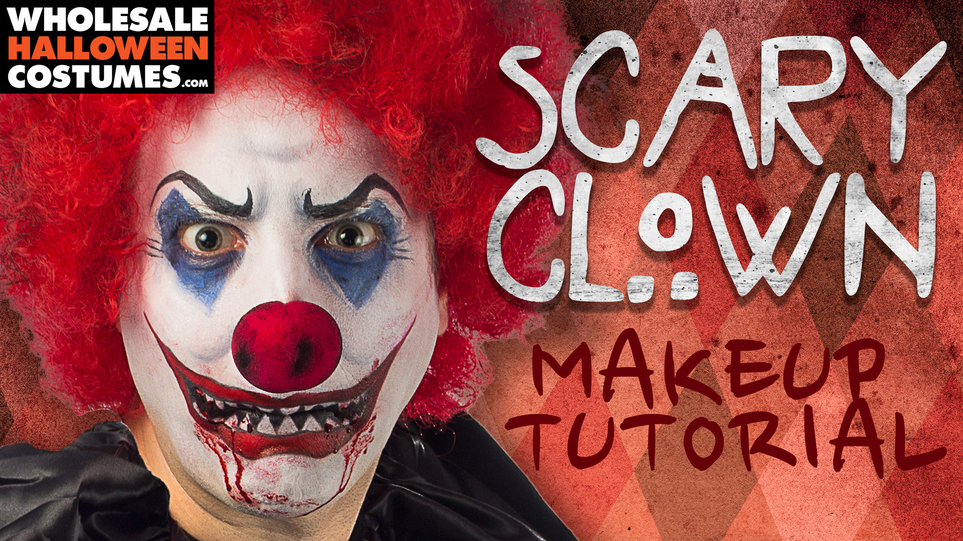 sc 1 st  Wholesale Halloween Costumes & Scary Clown Makeup Tutorial | Wholesale Halloween Costumes Blog