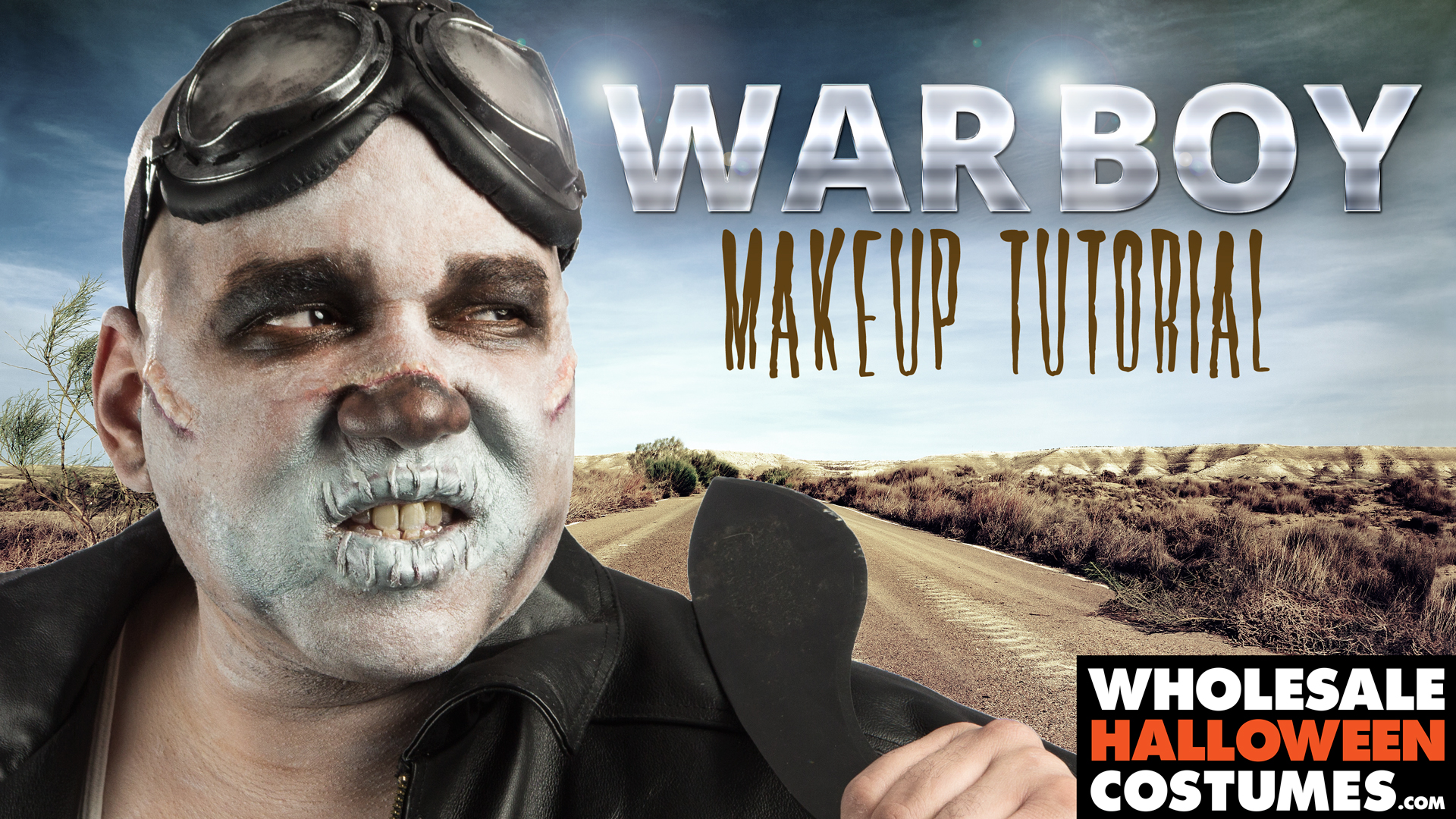 War Boy Makeup Tutorial | Wholesale Halloween Costumes Blog