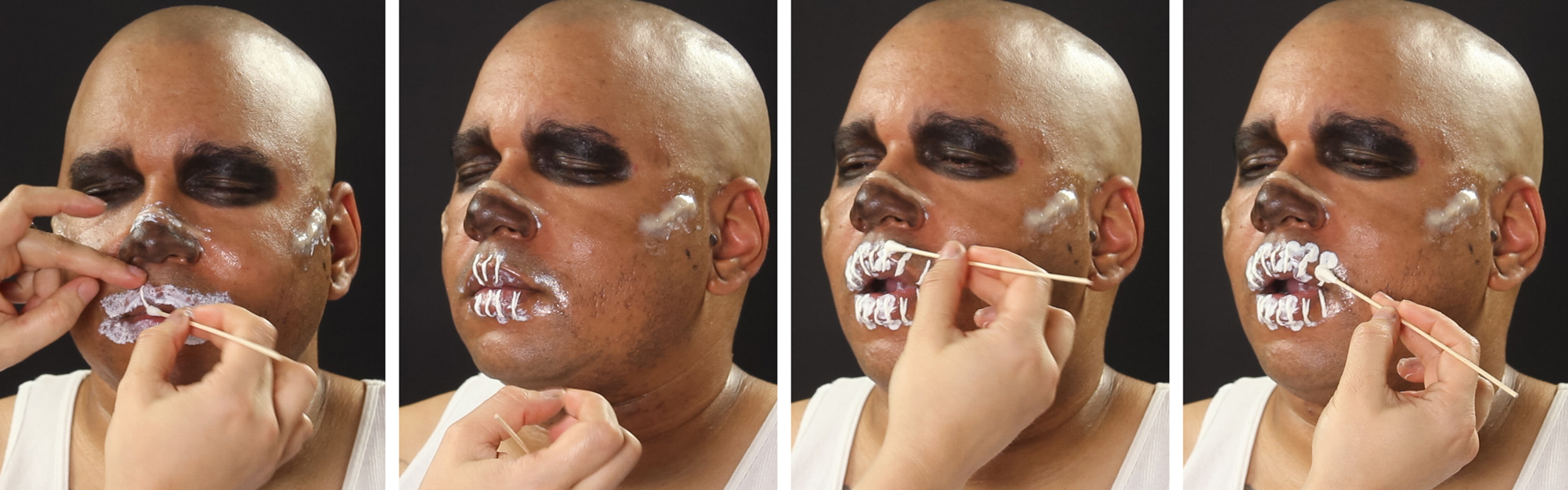 War boy makeup tutorial wholesale halloween costumes blog coat the lips with a layer of liquid latex baditri Choice Image