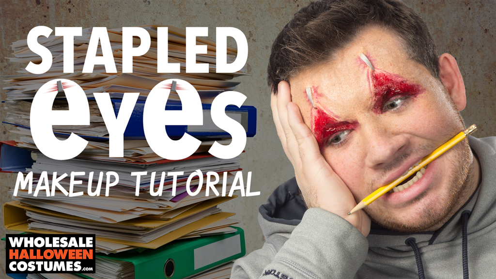 Stapled Eyelids Makeup Tutorial