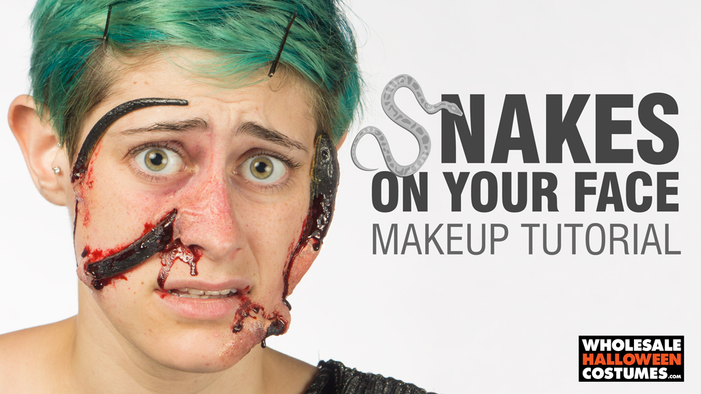 Snakes on Your Face Makeup Tutorial | Wholesale Halloween Costumes ...