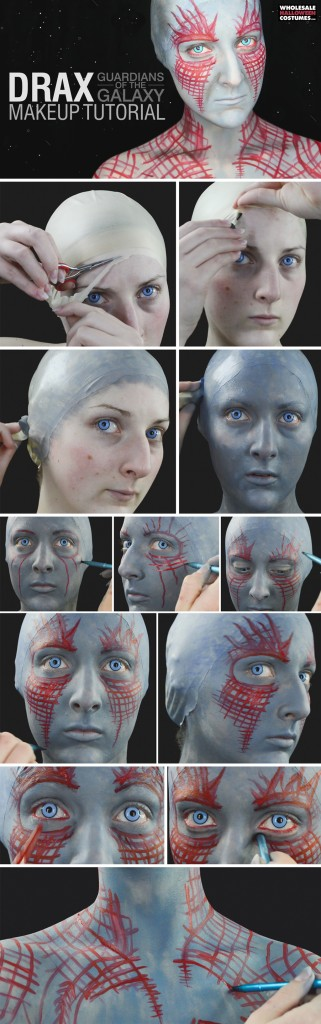 Drax Makeup Tutorial - Guardians of the Galaxy
