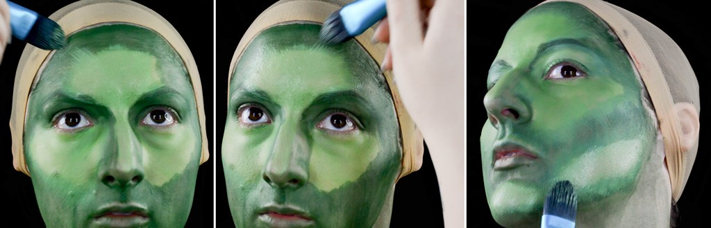 Gamora Makeup Tutorial - Guardians of the Galaxy Step 2