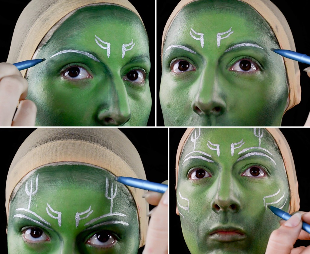 Gamora Makeup Tutorial - Guardians of the Galaxy Step 3