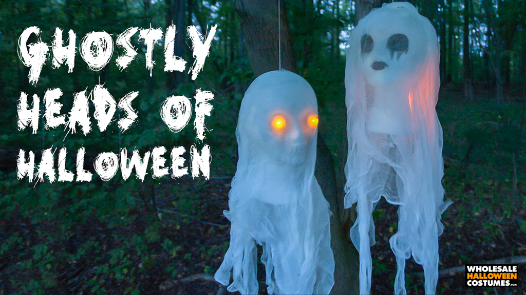 Halloween Glowing Ghost Bust DIY