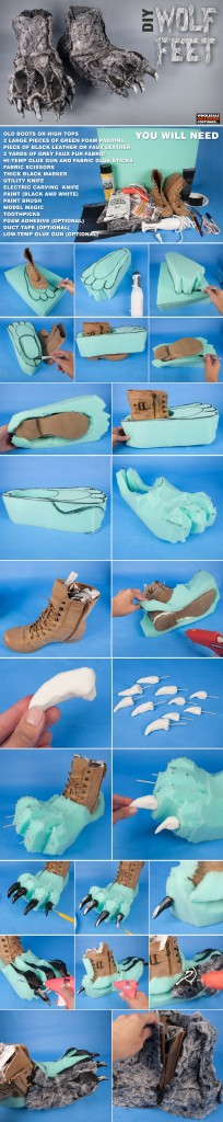 DIY Wolf Feet Shoes Pinterest