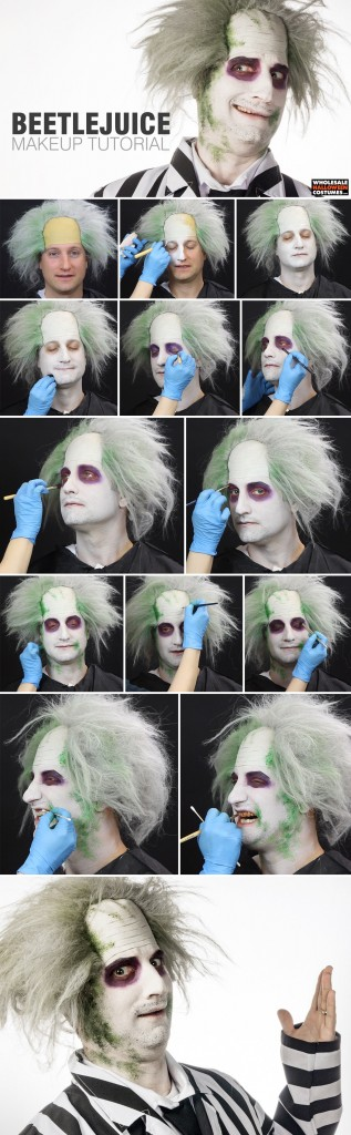 Beetlejuice Makeup Tutorial Pinterest