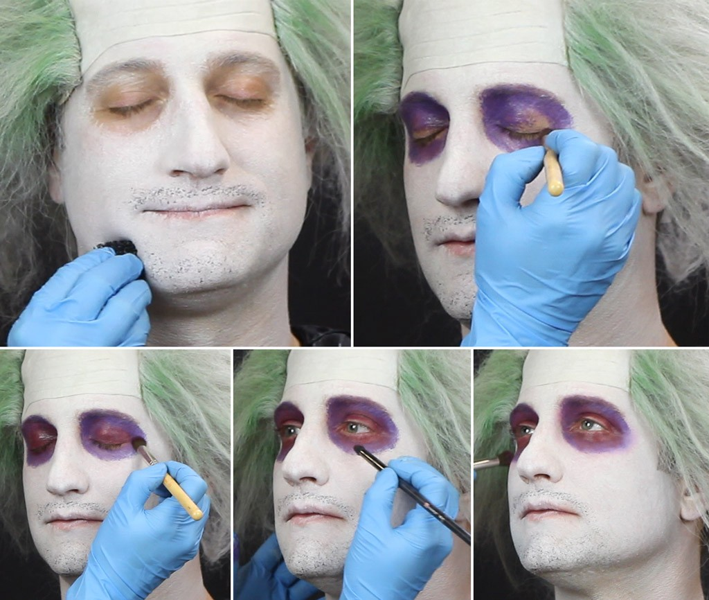 Beetlejuice Makeup Tutorial Step 2