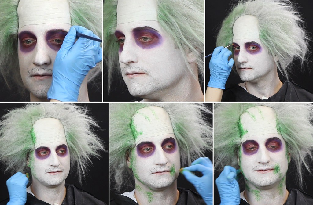 Beetlejuice Makeup Tutorial Step 3