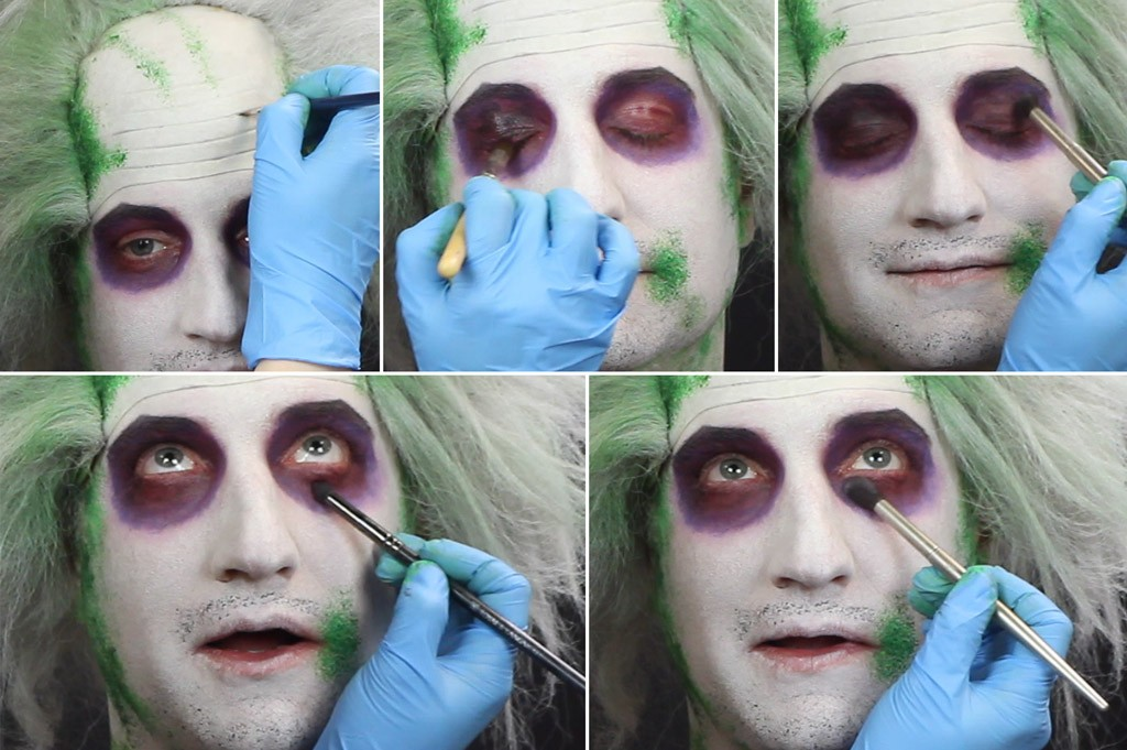 Beetlejuice Makeup Tutorial Step 4