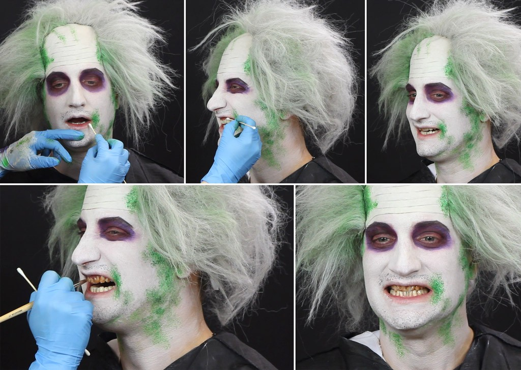 Beetlejuice Makeup Tutorial Step 5