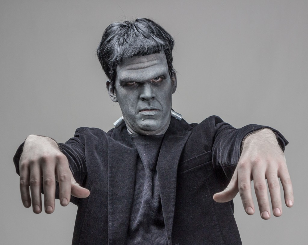 Frankenstein Makeup Tutorial Finished Look