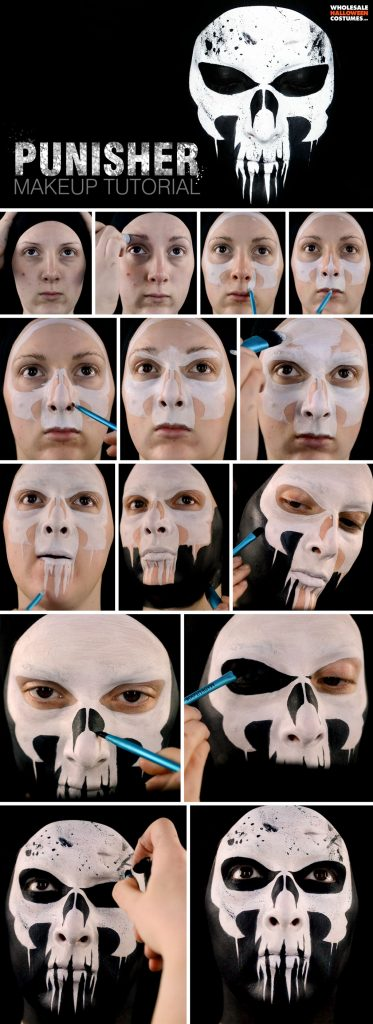 Punisher Inspired Makeup Tutorial Pinterest