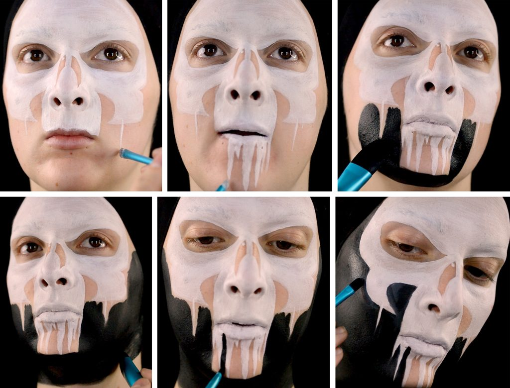 Punisher Inspired Makeup Tutorial Step 4