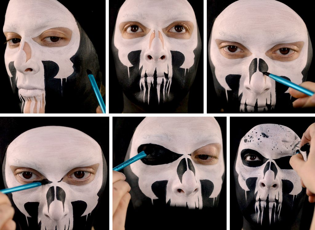 Punisher Inspired Makeup Tutorial Step 5