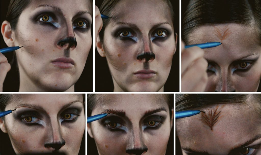 Werewolf Woman Makeup Tutorial Step 5