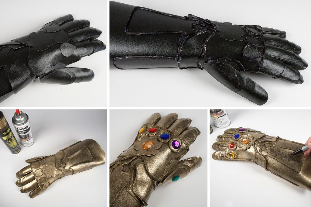 DIY Infinity Gauntlet Step 5