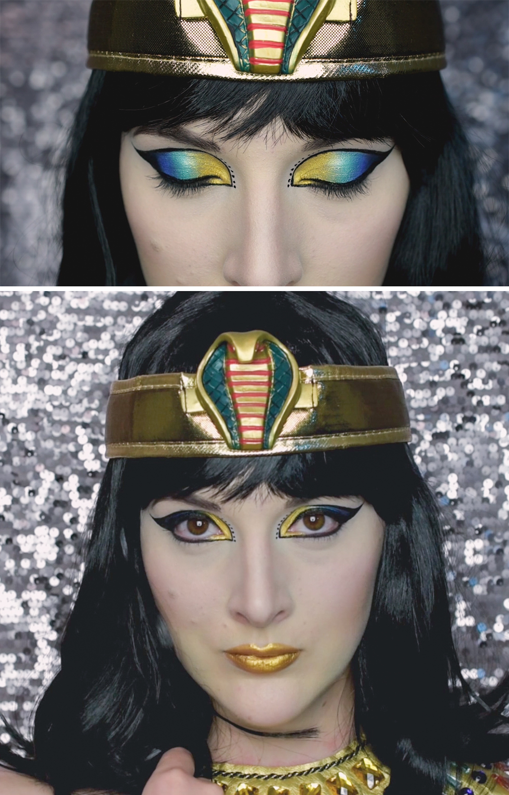 Egyptian Makeup Tutorial Finished Look