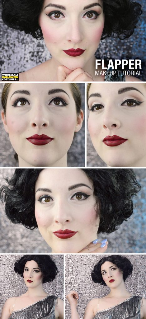 1920's Flapper Makeup Tutorial Pinterest