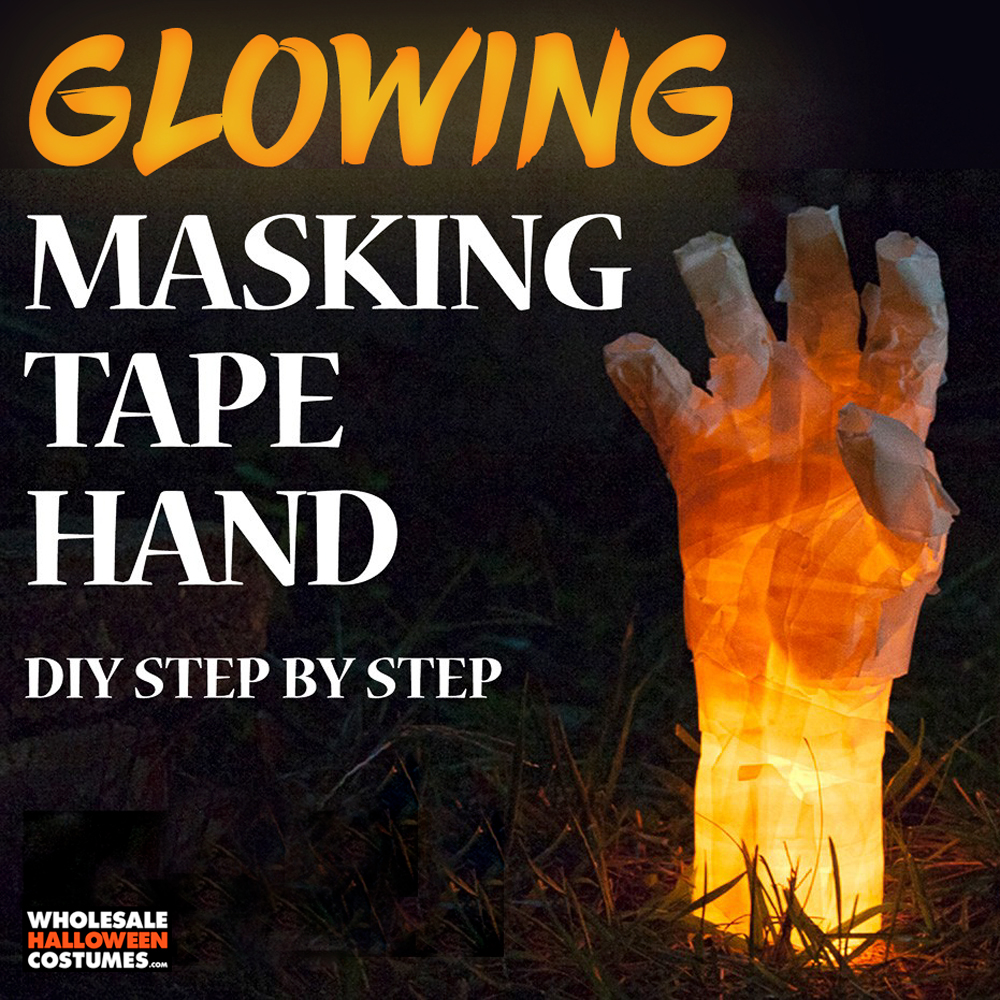 DIY Glowing Masking Tape Hand