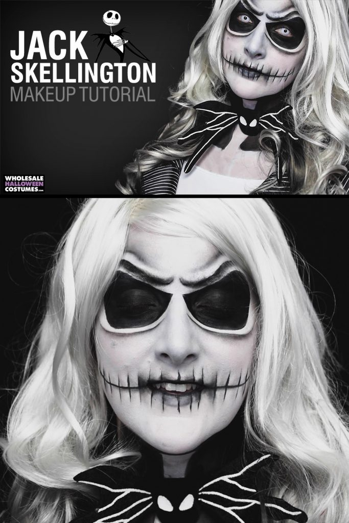 Jack Skellington Makeup Tutorial Pinterest