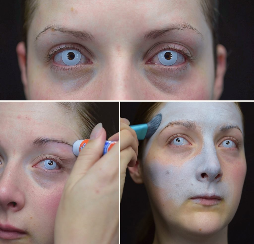 Jack Skellington Makeup Tutorial Step 1