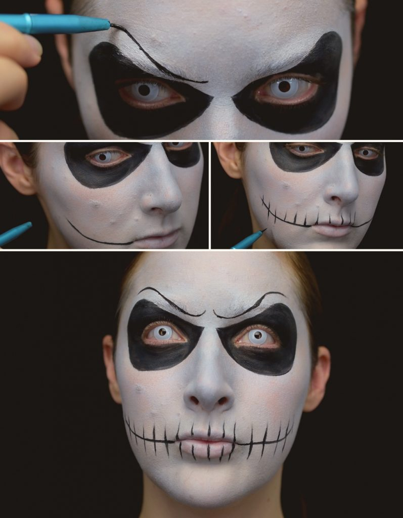 Jack Skellington Makeup Tutorial Step 4