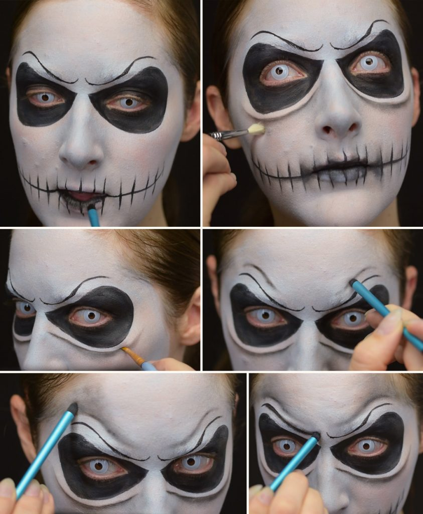 Jack Skellington Makeup Tutorial Step 5