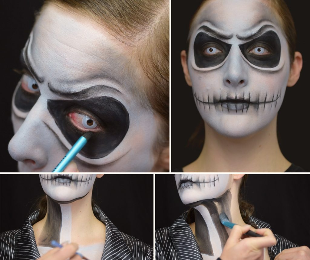 Jack Skellington Makeup Tutorial Step 6