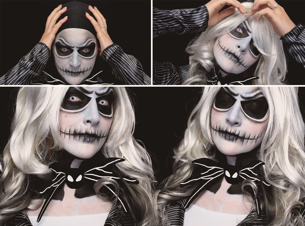 Jack Skellington Makeup Tutorial Step 7