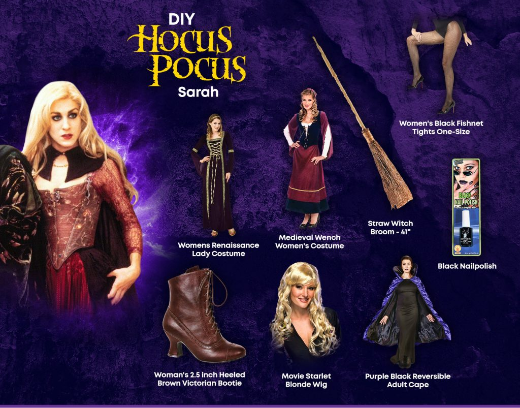 DIY Sarah Hocus Pocus Costume Ideas