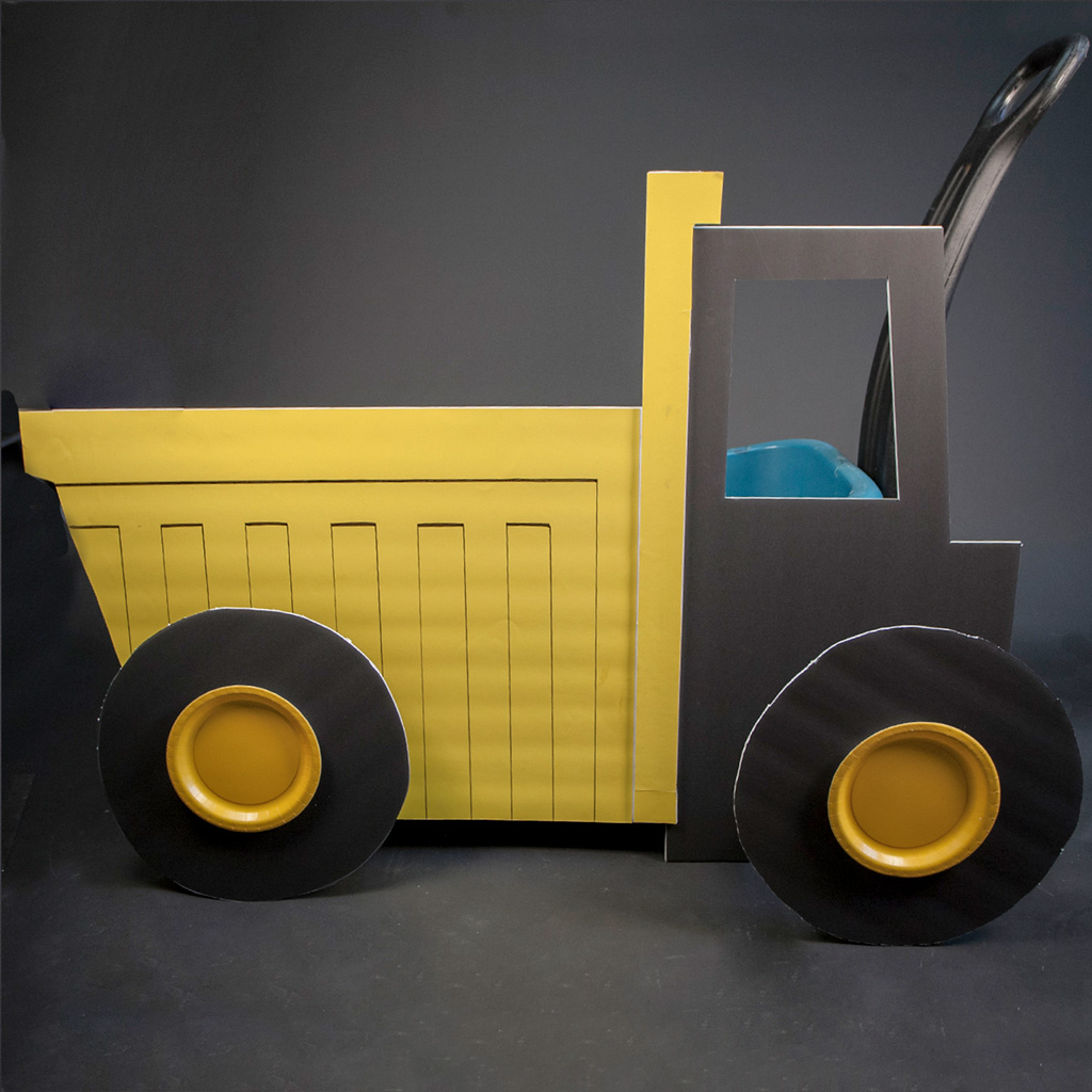 DIY Dumptruck Trick or Treating Wagon Tutorial