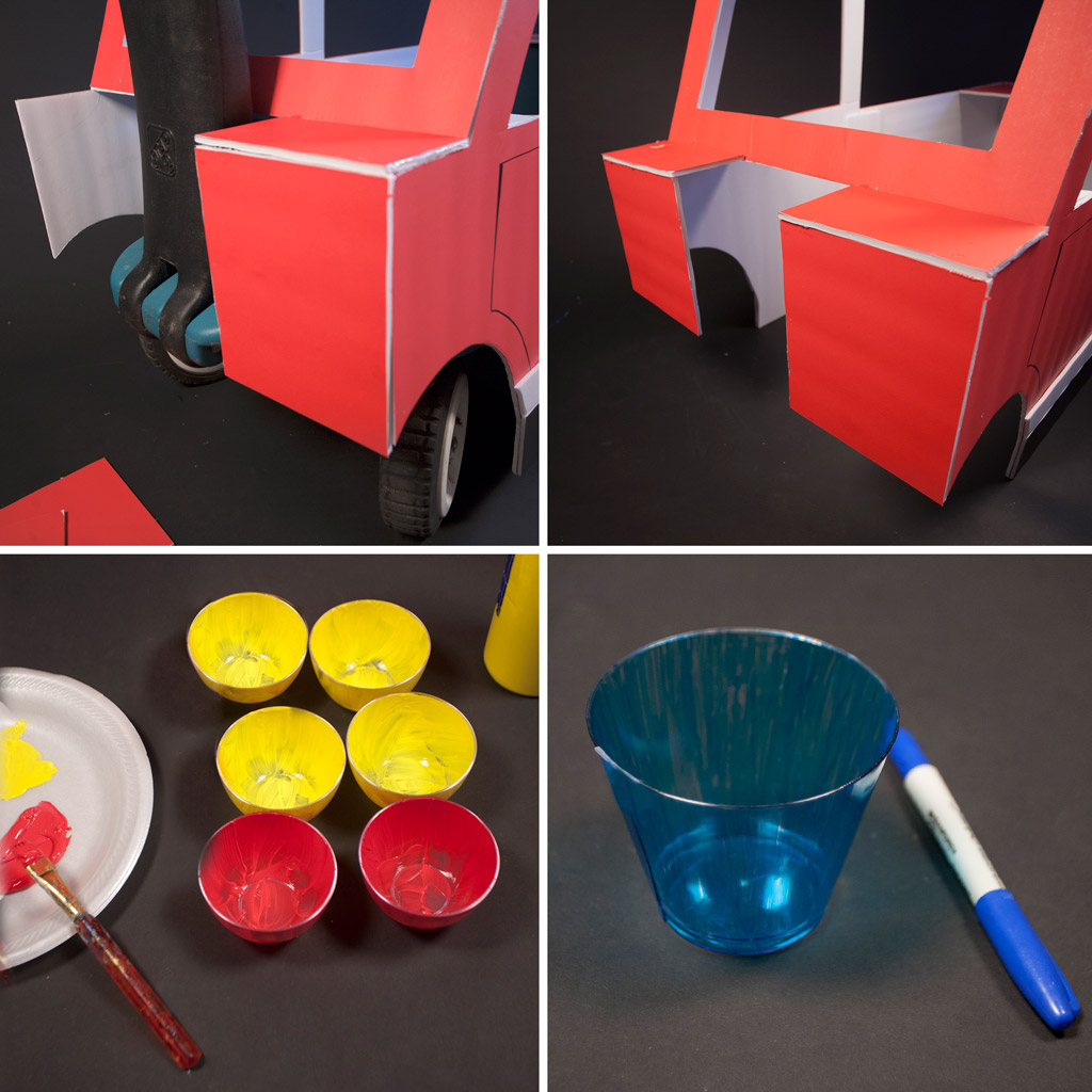 DIY Firetruck Trick or Treating Wagon