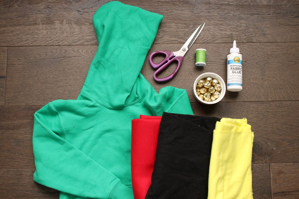 DIY Elf Hoodie Supplies