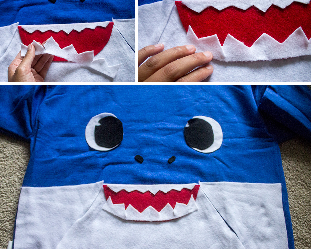 Daddy Shark Hoodie Mouth