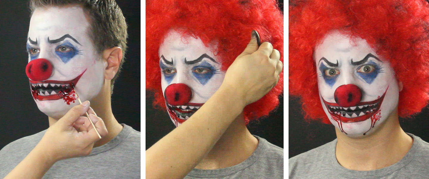 Scary Clown Makeup Tutorial | Wholesale Halloween Costumes ...